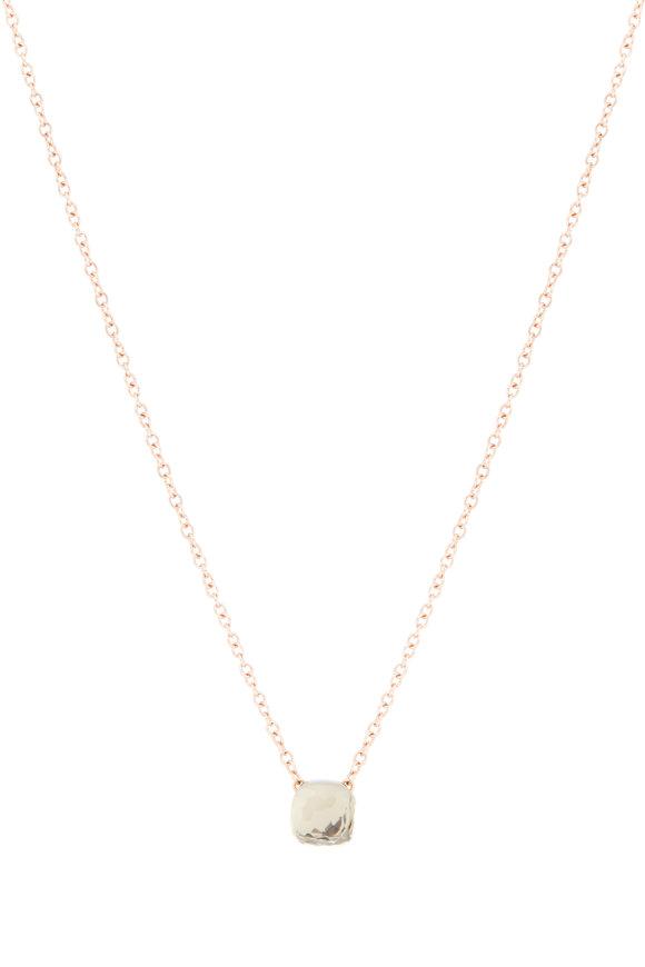 Pomellato 18K White & Rose Gold Prasiolite Necklace