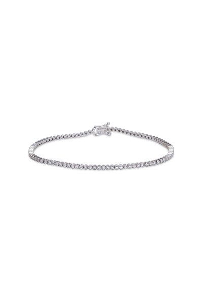 Paul Morelli - White Gold Diamond Stitch Bracelet