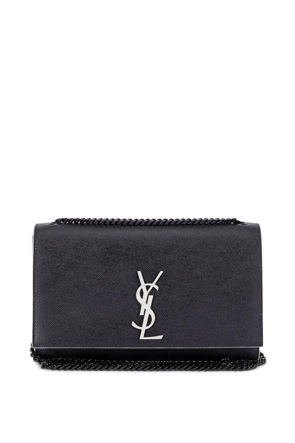Saint Laurent Kate Black Leather Chain Shoulder Bag