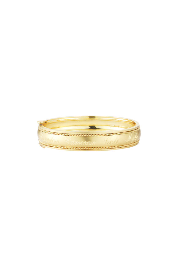 Penny Preville 18K Yellow Gold Twist Bangle