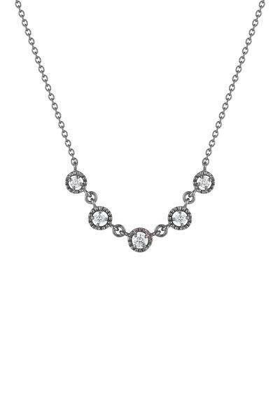 Penny Preville - 18K Blackened White Gold Diamond Necklace