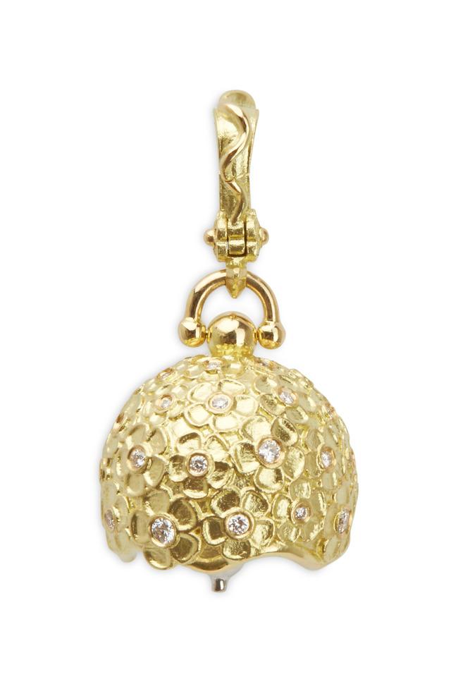 Hydrangea Yellow Gold Diamond Bell
