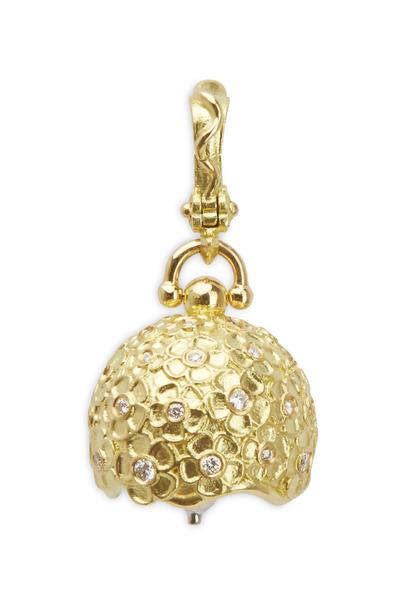 Paul Morelli - Hydrangea Yellow Gold Diamond Bell