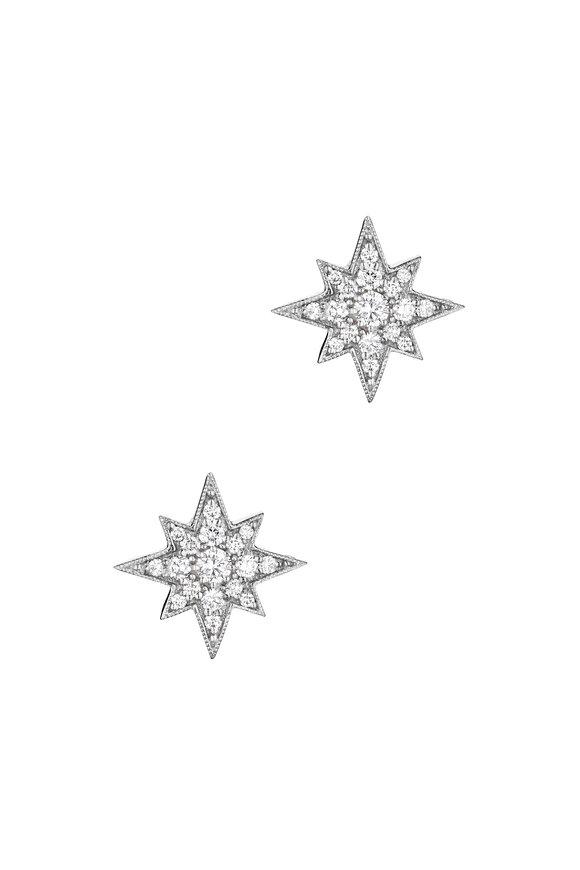 Penny Preville 18K White Gold Pavé Diamond Starburst Studs