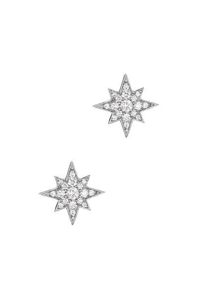 Penny Preville - 18K White Gold Pavé Diamond Starburst Studs