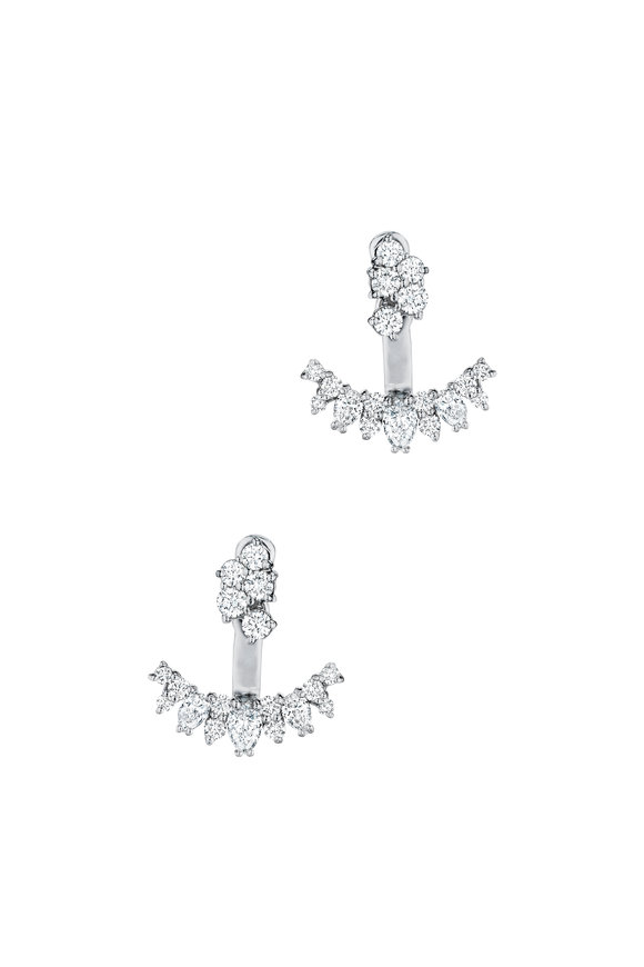 Penny Preville 18K White Gold Diamond Ear Jackets