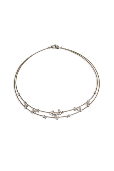 Paul Morelli - White Gold Double Wire Diamond Necklace