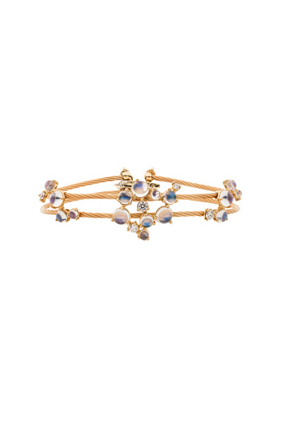 Paul Morelli - Yellow Gold Moonstone Diamond Bracelet