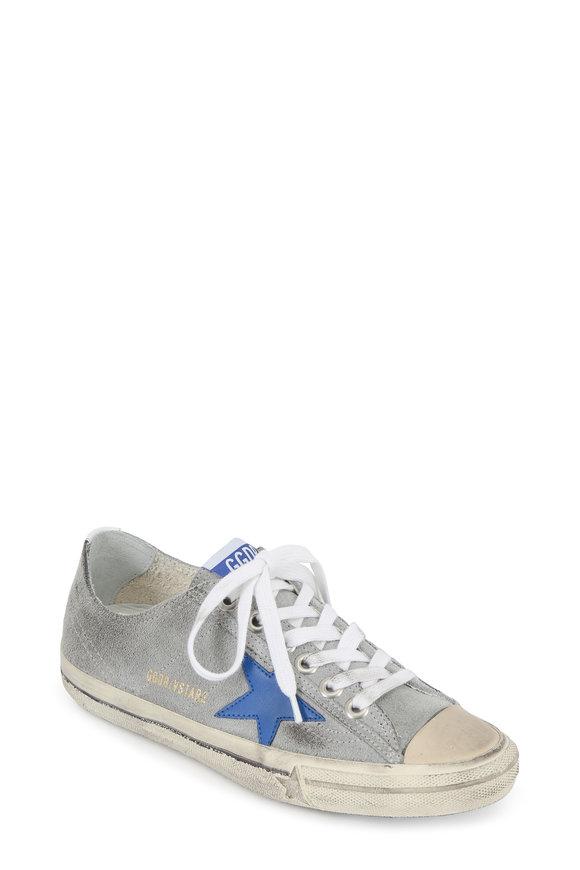 Golden Goose Women's V-Star Gray Suede Low Top Sneaker