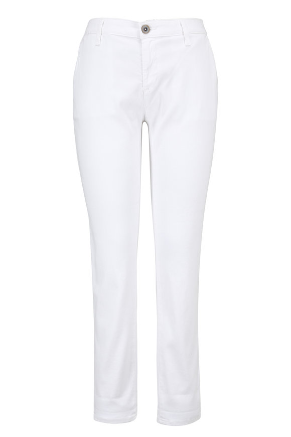 AG - Adriano Goldschmied Caden White Stretch Twill Pant