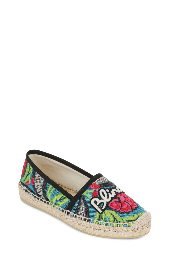 Gucci Pilar Blind For Love Tapestry Espadrille