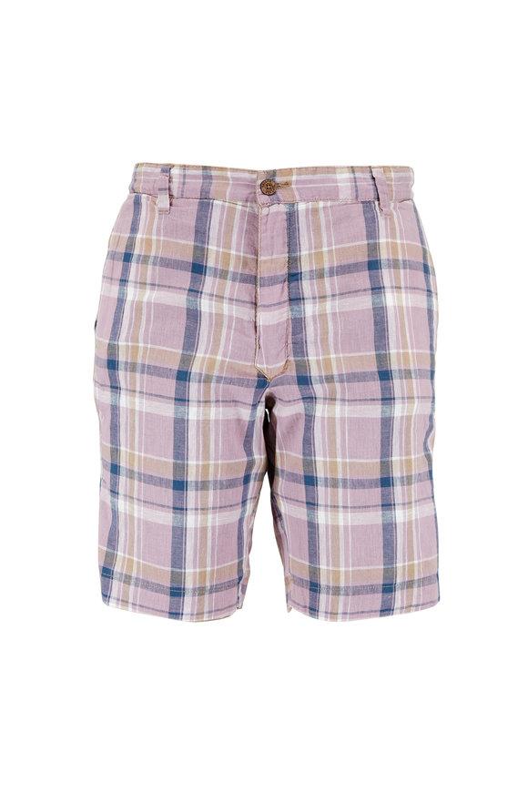 Tailor Vintage Elmwood Taupe & Desert Plaid Reversible Shorts