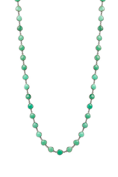 Loriann - Gold & Silver Chrysoprase Accessory Chain Necklace