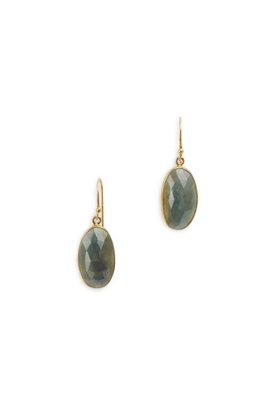 Loriann - Gold & Silver Multi Color Sapphire Earrings