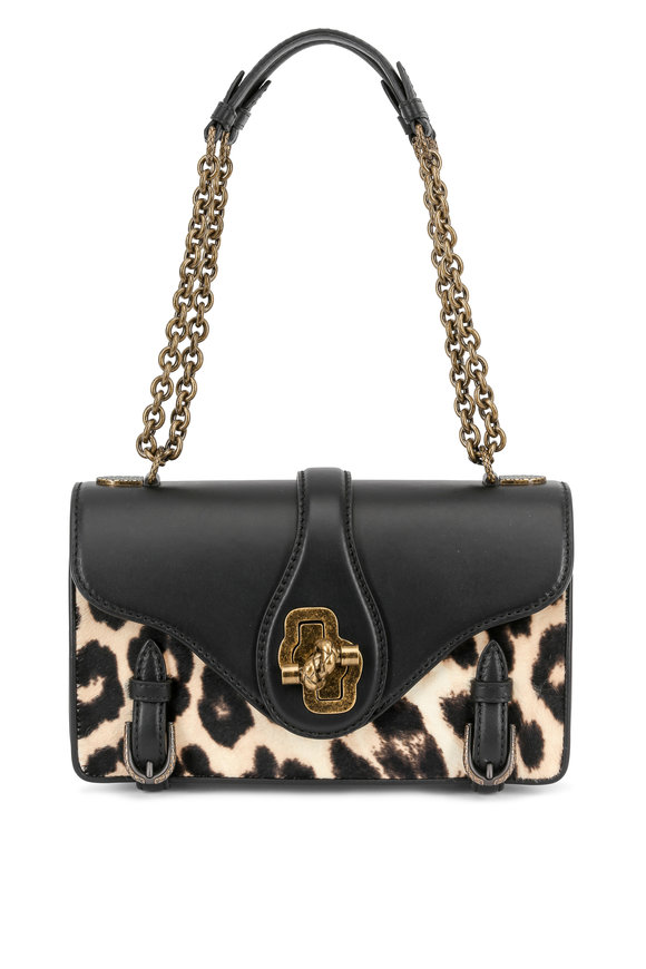 Bottega Veneta 50th Anniversary Leopard Calf Hair City Knot Bag