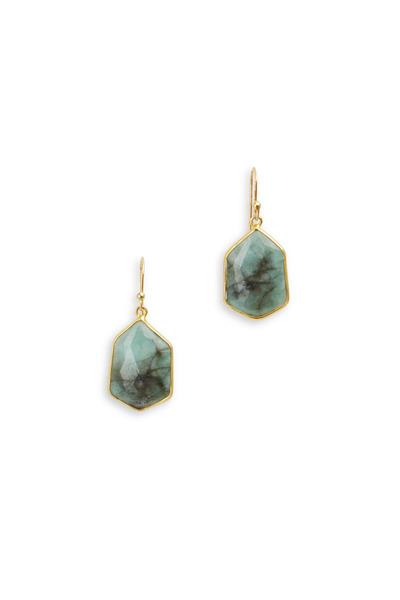 Loriann - Gold & Silver Emerald Earrings