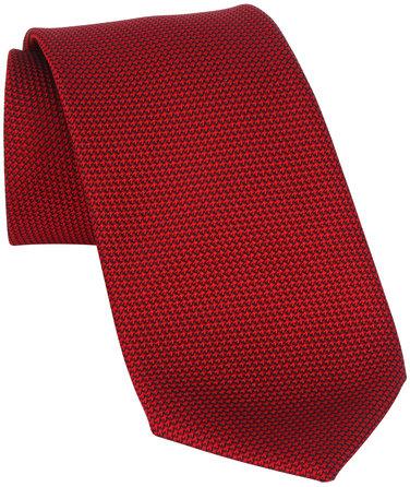 Charvet Red Textured Silk Necktie