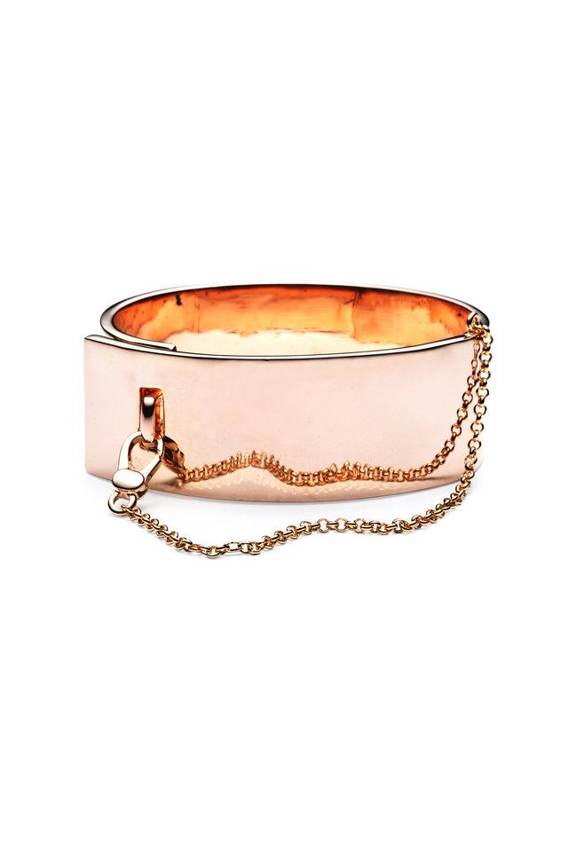 Rose Gold Plate Cuff Bracelet