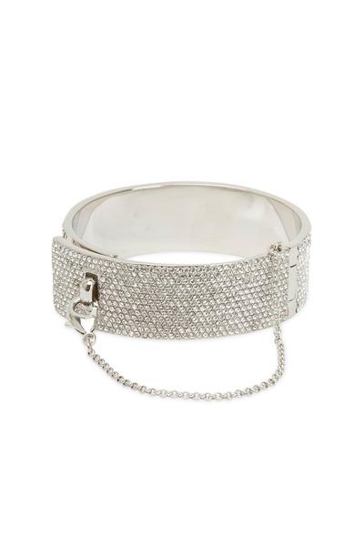 Eddie Borgo - Sterling Silver Pavé-Set Crystal Cuff Bracelet
