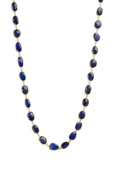 Loriann - Gold Lapis Accessory Chain Necklace