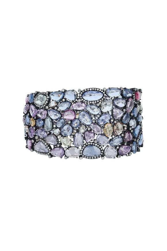 Loren Jewels 18K Gold Multicolor Sapphire Bracelet