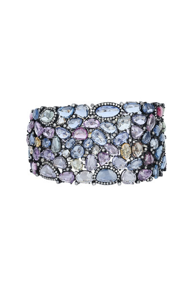 Loren Jewels - 18K Gold Multicolor Sapphire Bracelet