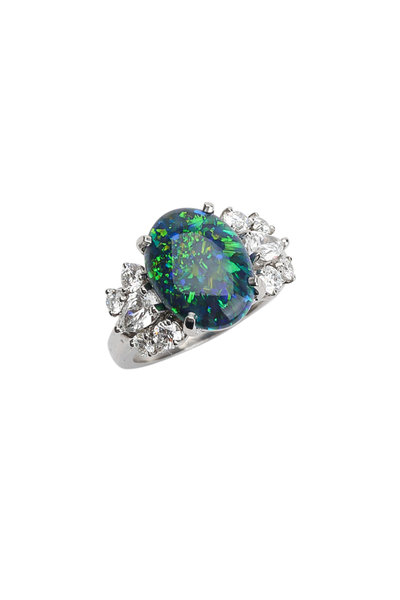 Oscar Heyman - Platinum Opal & Diamond Ring