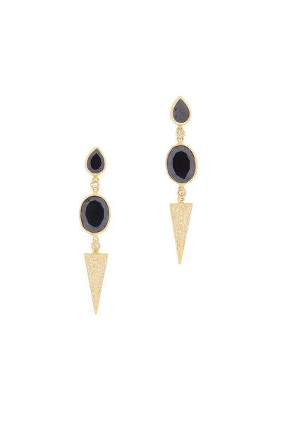 Coomi - 20K Gold Black Spinel & Diamond Affinity Earrings