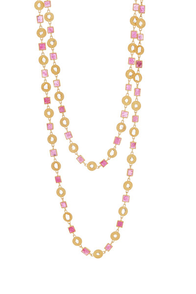 Brunello Cucinelli - Pink & Gold Double Layer Necklace