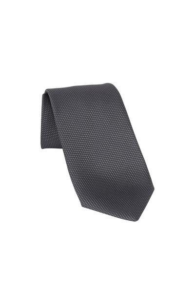 Charvet - Gray Textured Silk Necktie