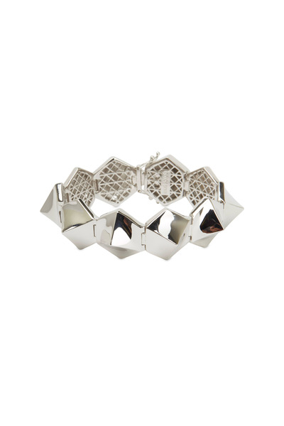 Eddie Borgo - Sterling Silver Plated Brass Bent Pyramid Bracelet