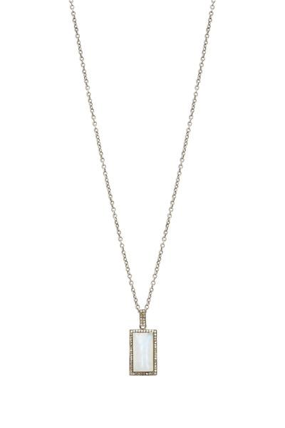 Loriann - Sterling Silver Magic Moonstone Diamond Necklace