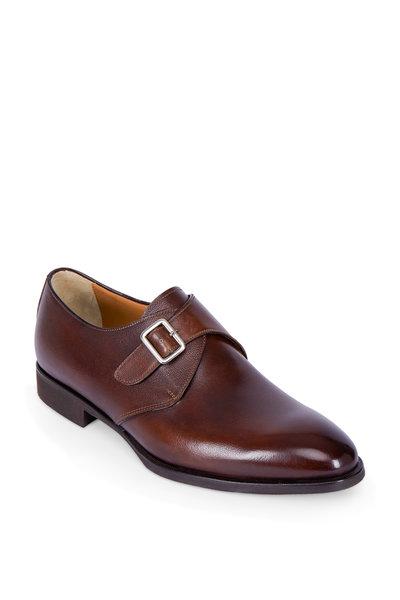 Di Bianco - Brown Leather Single Monk Dress Shoe