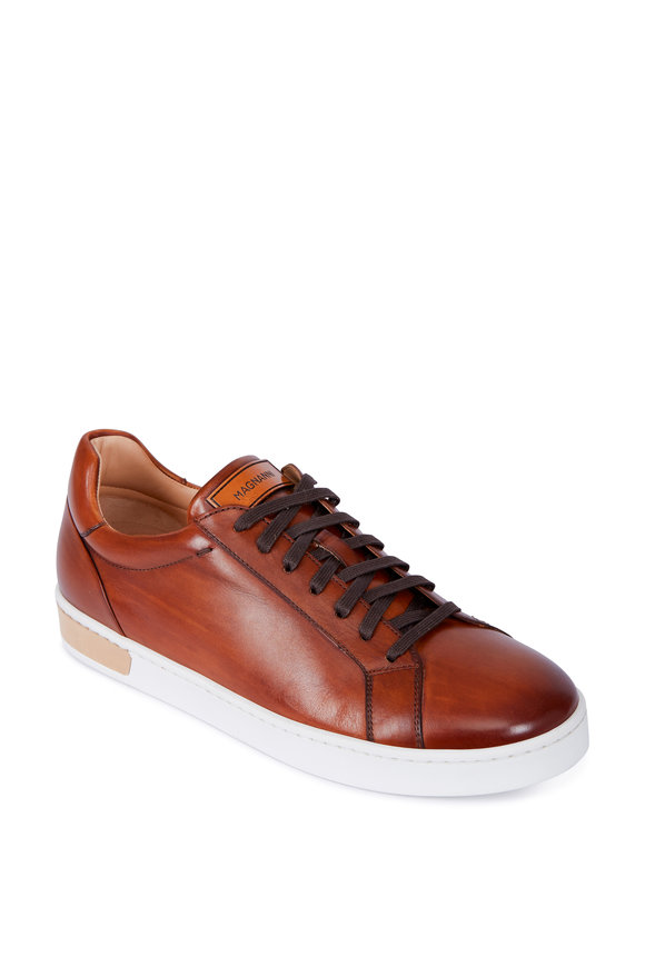 Magnanni Caballero Cognac Leather Lace-Up Sneaker