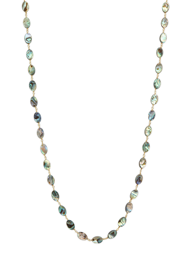 Gold & Silver Abalone Accessory Chain Necklace