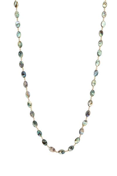 Loriann - Gold & Silver Abalone Accessory Chain Necklace