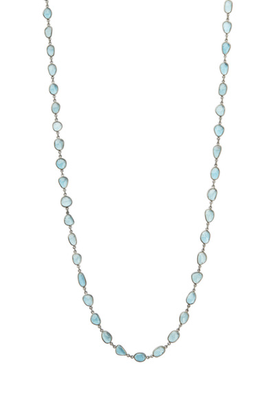 Loriann - Silver London Blue Topaz Accessory Chain Necklace