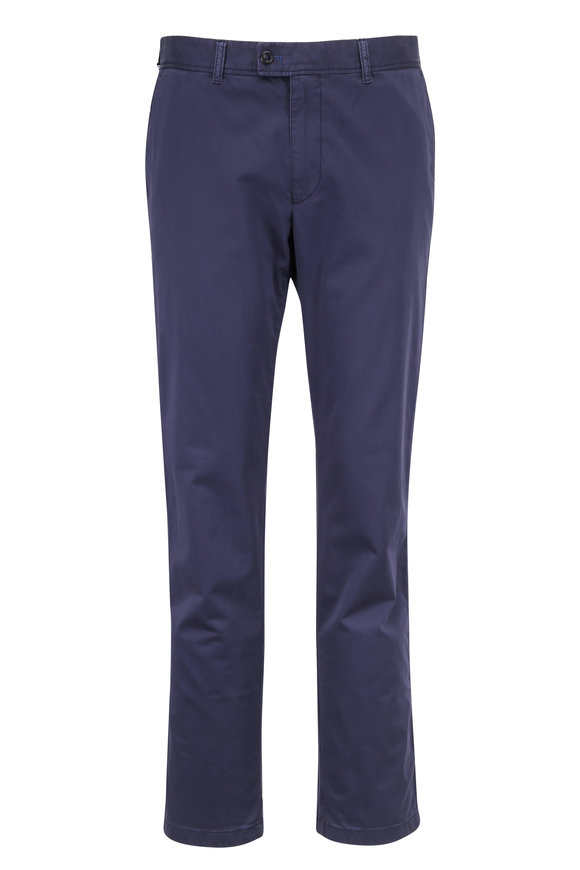 Brax Evans Navy Blue Flat Front Chino Pant