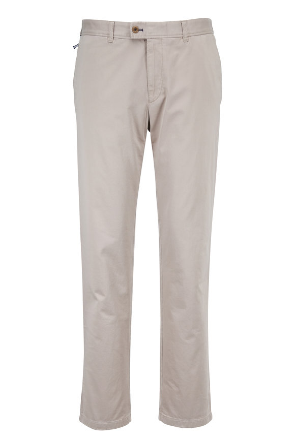 Brax Evans Beige Flat Front Chino Pant