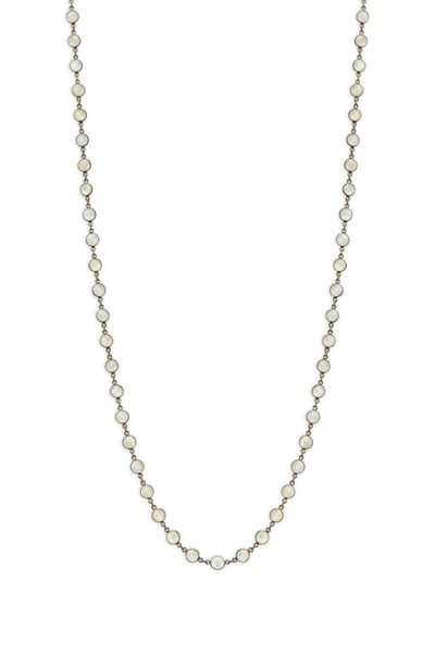 Loriann - Silver Small Moonstone Accessory Chain Necklace