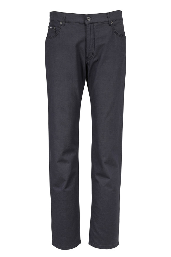 Brax Cooper Gray Sueded Stretch Pima Cotton Pant