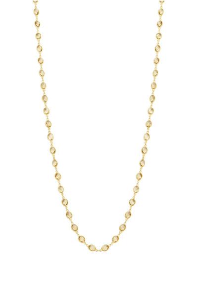 Loriann - Gold Champagne Quartz Accessory Chain Necklace