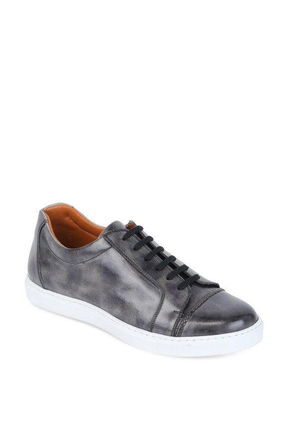Bontoni Sportivo Gray Leather Lace-Up Sneaker