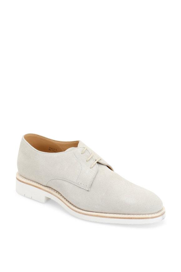 Heschung Hevea Bone Suede Derby Shoe