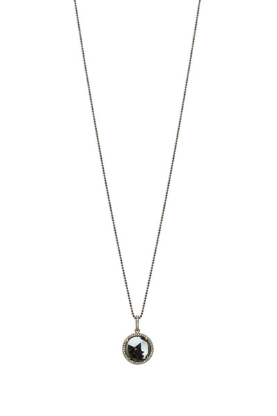 Loriann - Round Black Spinel Diamond Pendant