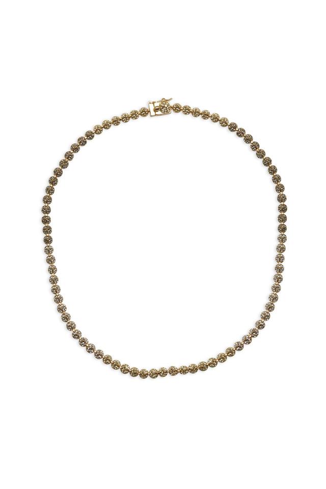 Brass Plate Pavé-Set Crystal Cone Necklace