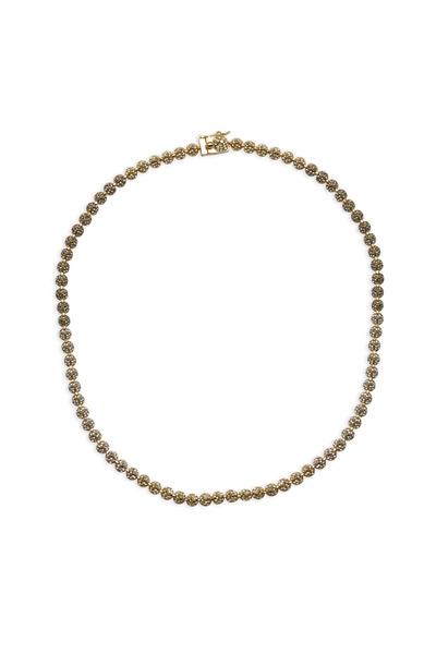 Eddie Borgo - Brass Plate Pavé-Set Crystal Cone Necklace