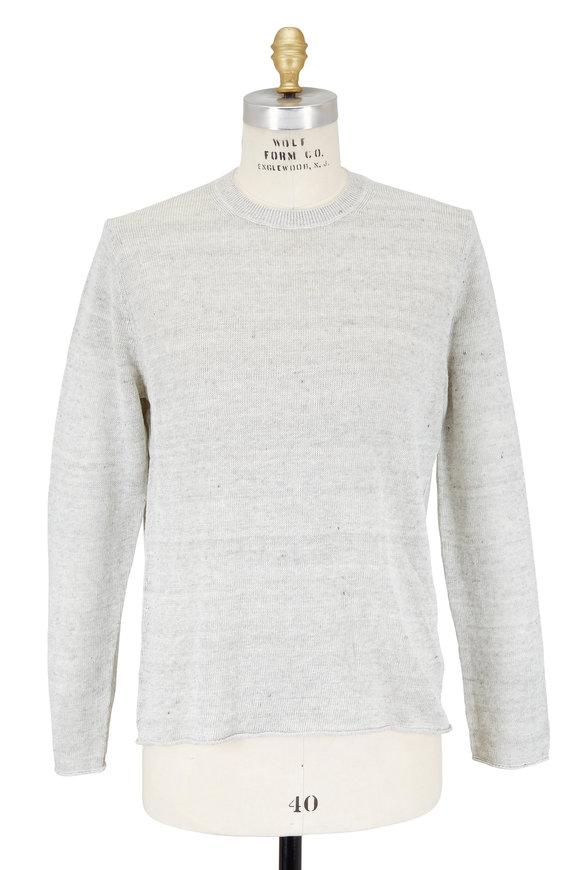 Vince Heather Steel Gray Linen Sweater