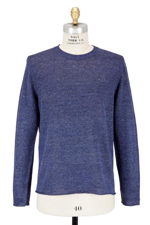 Vince Heather Coastal Blue Linen Sweater