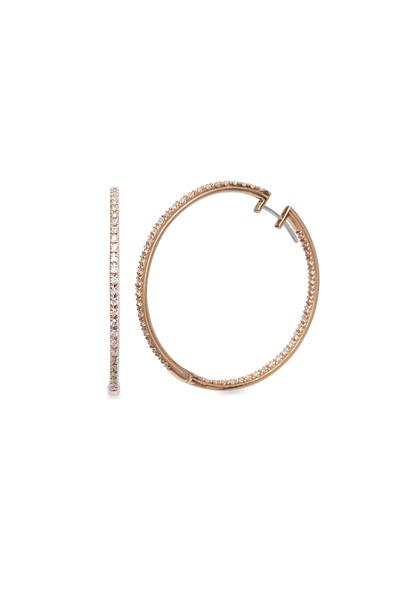 Paul Morelli - Pink Gold Diamond Hoop Earrings